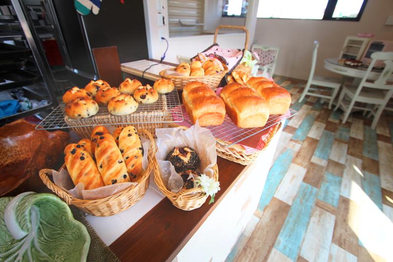 おいしいパンが並んでいます